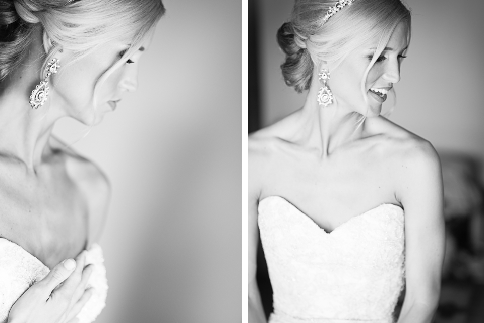 Beautiful Bride portraits - black + white
