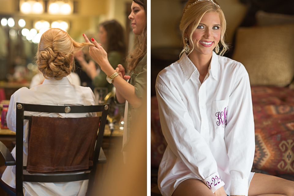 Bride getting ready shirt - Monogrammed button down