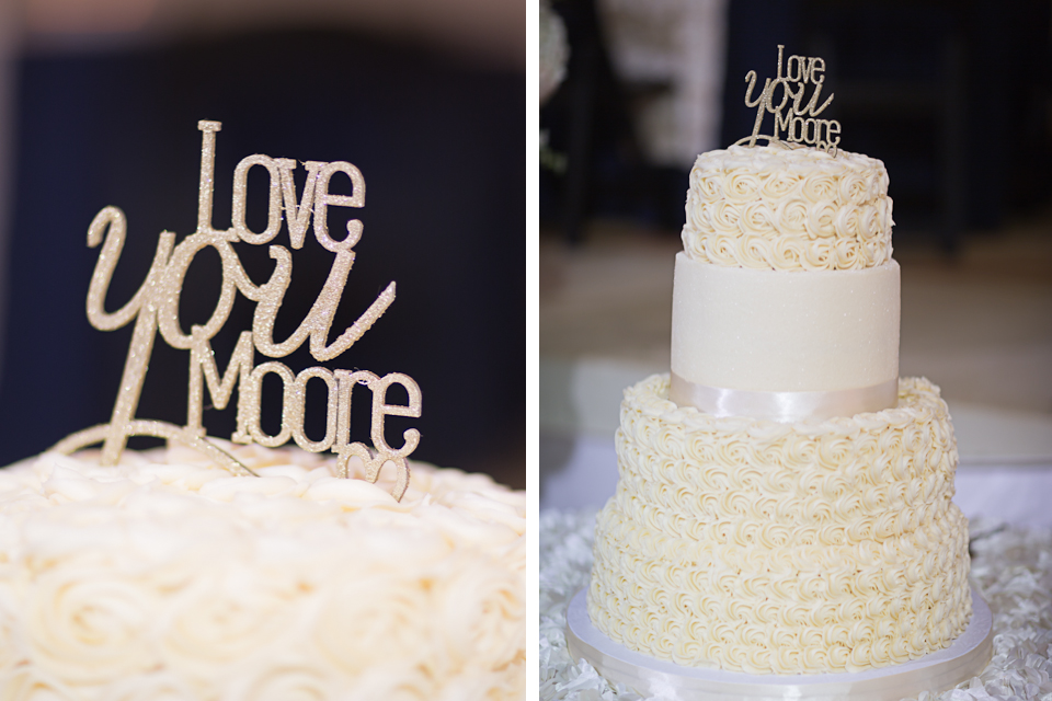 I love you more - cake topper - wedding