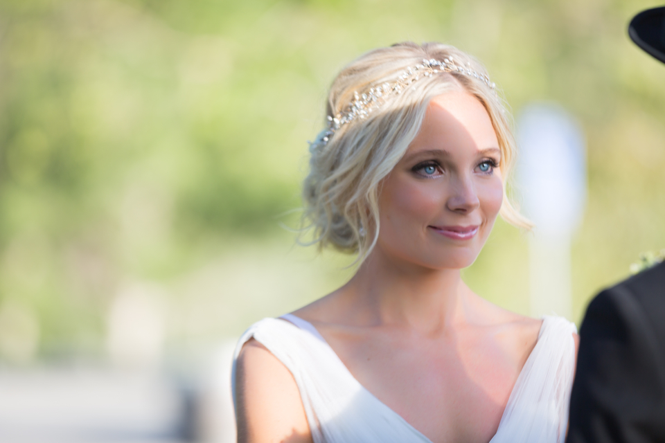 Valorie Darling Photography - Fess Parker Winery Wedding - Bride ceremony