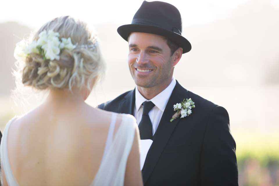 Valorie Darling Photography - Fess Parker Winery Wedding - ceremony Groom