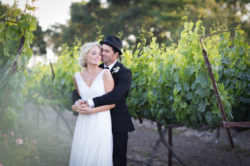 Valorie Darling Photography - Fess Parker Winery Wedding - Bride vineyard