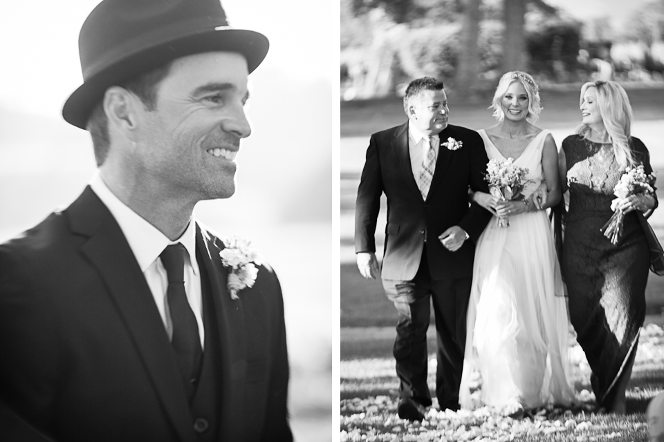 Valorie Darling Photography - Fess Parker Winery Wedding - Bride + Groom aisle ceremony