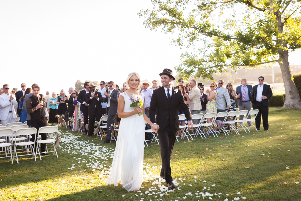 Valorie Darling Photography - Fess Parker Winery Wedding - Bride + Groom ceremony aisle