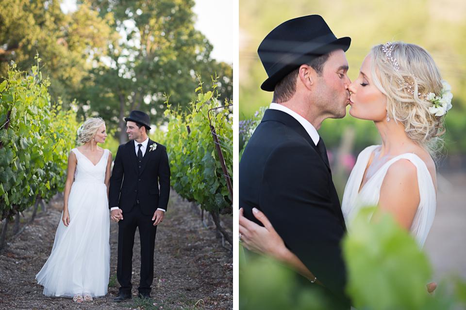 Valorie Darling Photography - Fess Parker Winery Wedding - Bride + Groom vineyard