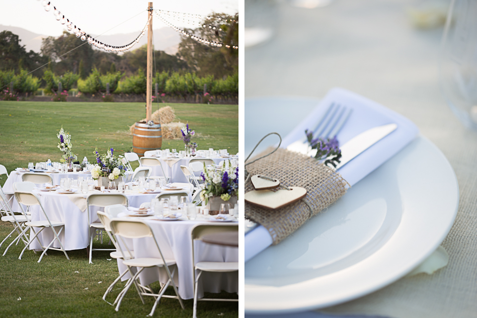 Valorie Darling Photography - Fess Parker Winery Wedding - Reception Tables