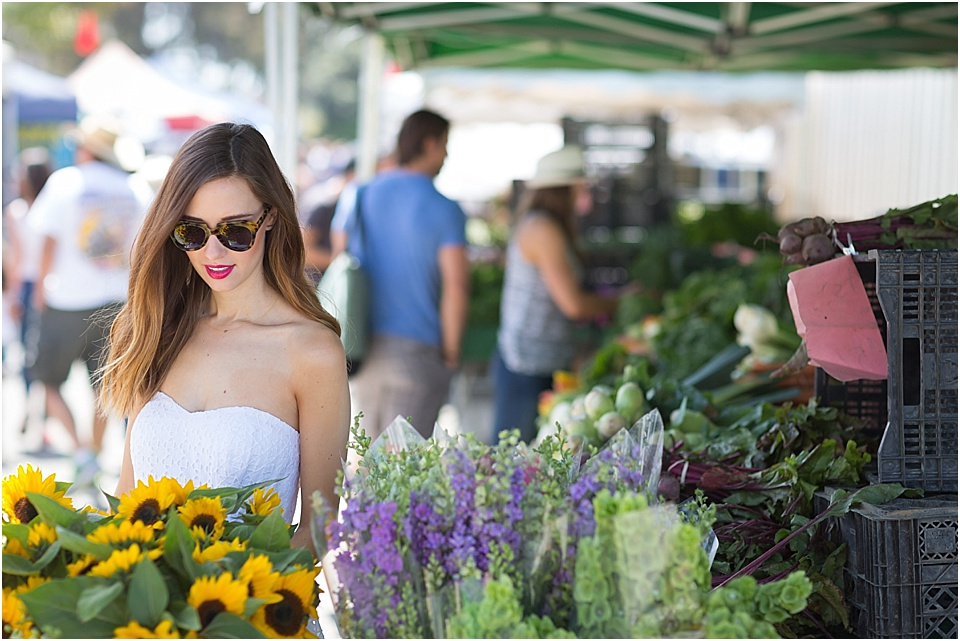 mara ferreira, m loves m, farmers market, santa monica, donna morgan, dress, fashion