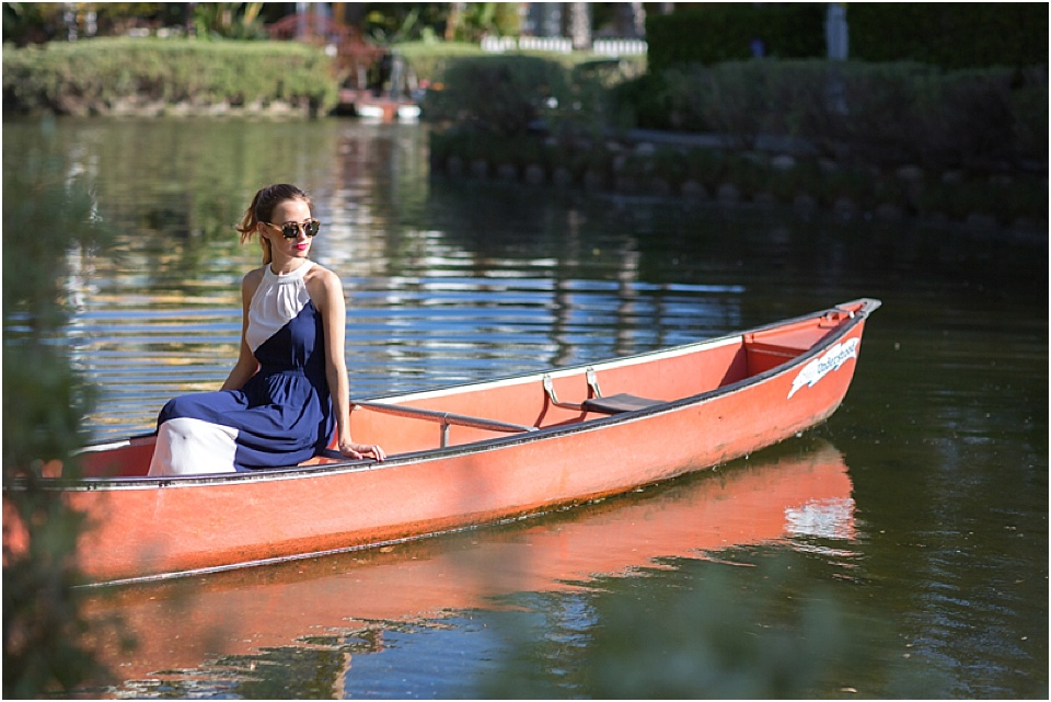 Mara Feirerra, m loves m blog, fashion, shoshanna dress, venice canals