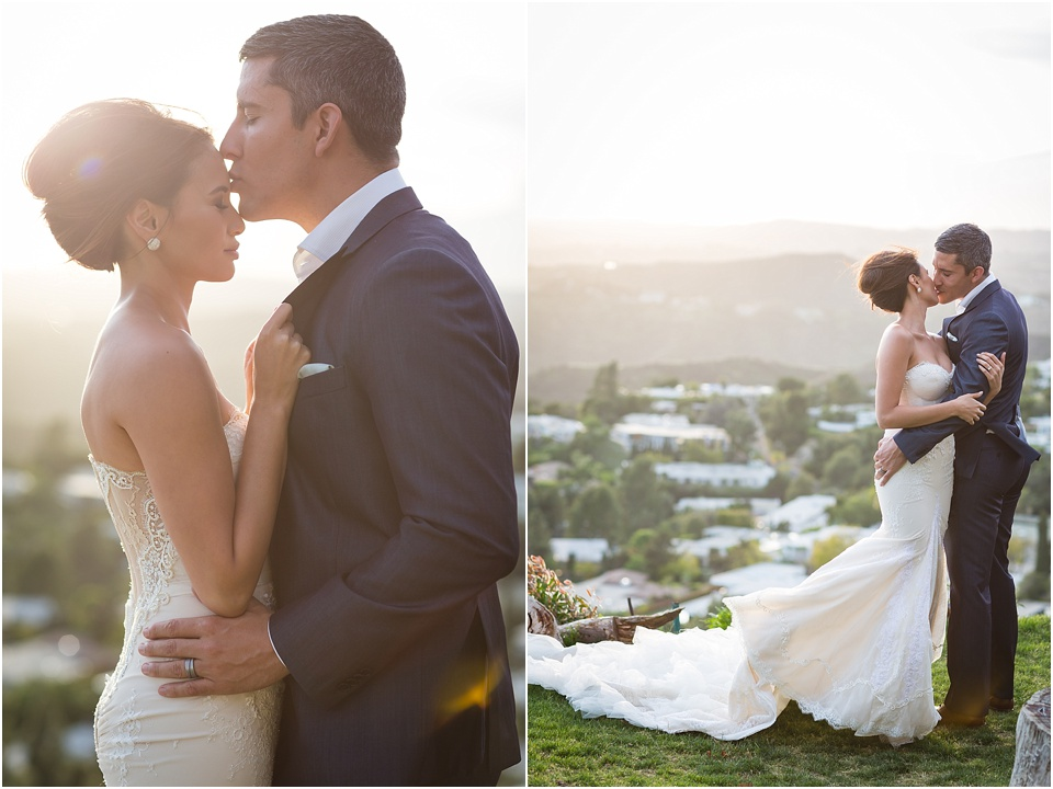 Hollywood Hills Elopement - Inbal Dror Wedding Dress - Valorie Darling Photography
