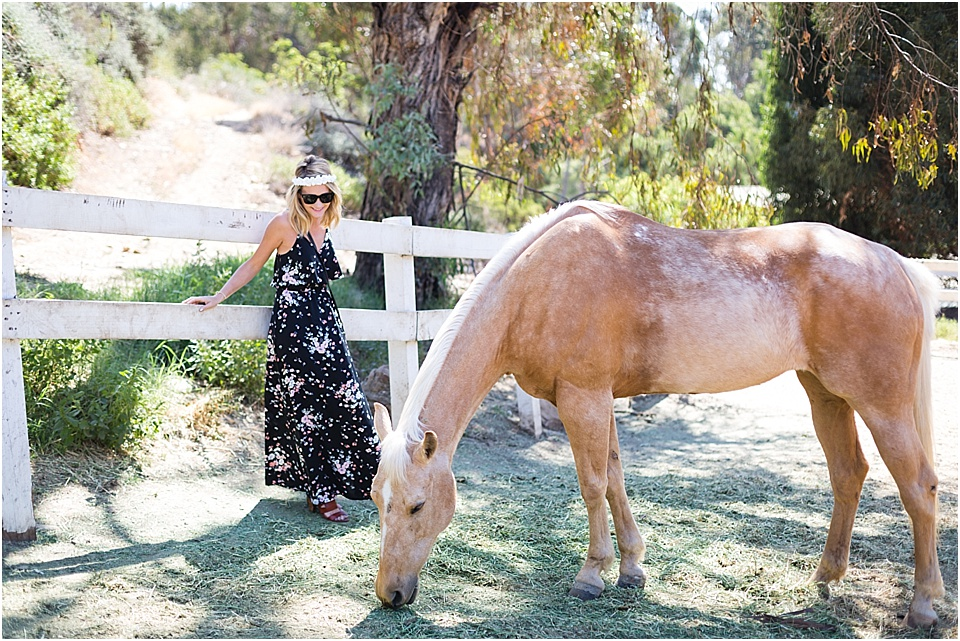 Lauren Conrad Maxi - Fashion - Photoshoot with horses