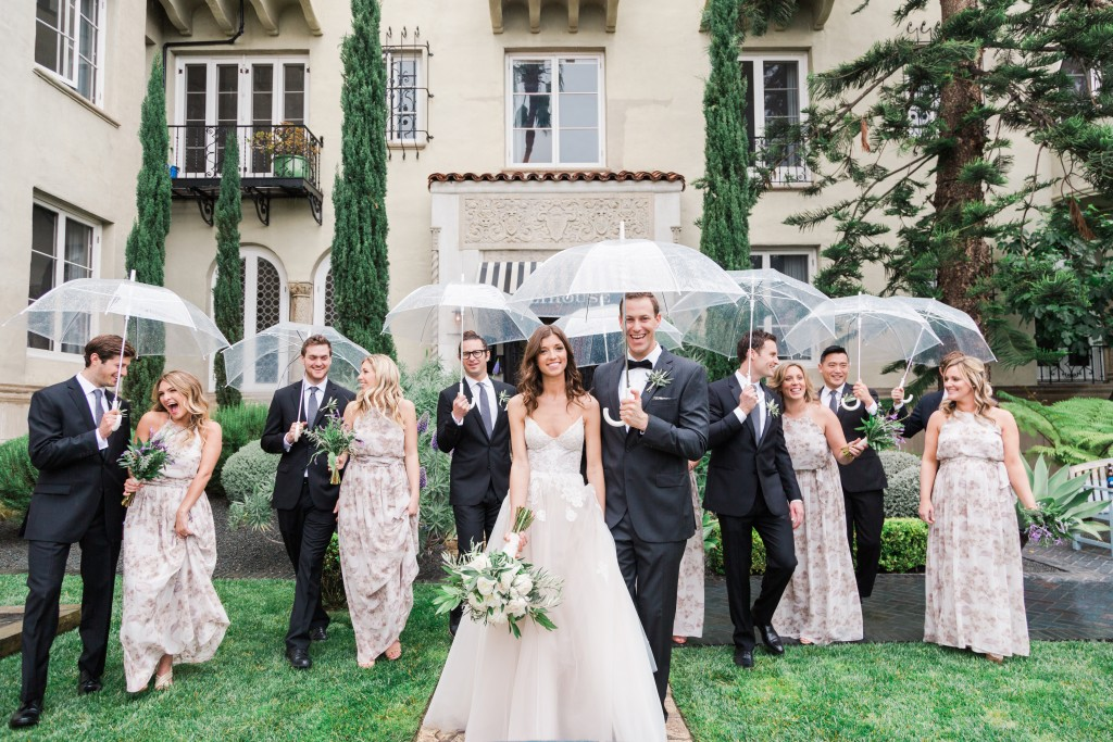 Rainy Day Bridal Party