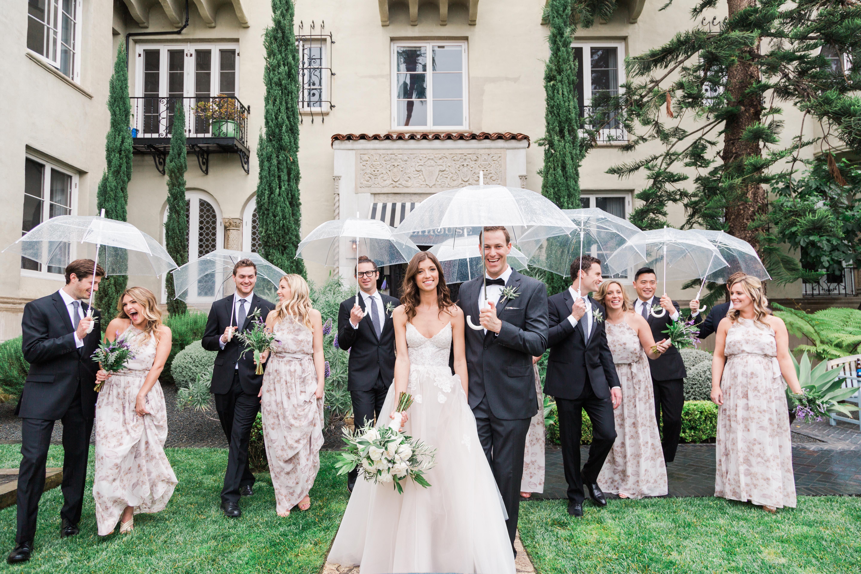 Rainy Day Bridal Party
